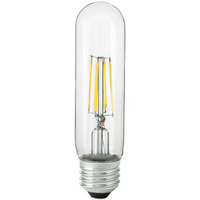 LED T10 Tubular Bulb - 4.5 Watt - 40 Watt Equal - 430 Lumens - 3000 Kelvin - Medium Base - Halogen Match - 120 Volt - Satco S9892