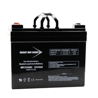 12 Volt - 35Ah - AGM Battery - NB Terminal - Sealed AGM - Bright Way Group BW12180NB