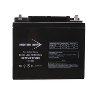 12 Volt - 50Ah - AGM Battery - NB Terminal - Sealed AGM - Bright Way Group BW12500NB