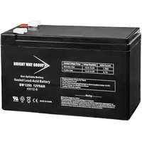 12 Volt - 9 Ah - AGM Battery - F1 Terminal - Sealed AGM - Bright Way Group BW1290F1