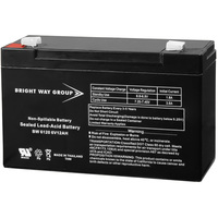 6 Volt - 12 Ah - AGM Battery - F2 Terminal - Sealed AGM - Bright Way Group BW6120F2