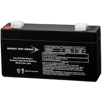 6 Volt - 1.3 Ah - AGM Battery - F1 Terminal - Sealed AGM - Bright Way Group BW613F1