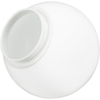 6 in. White Acrylic Globe - with 3.125 in. Extruded Neck Opening - American PLAS-6NW