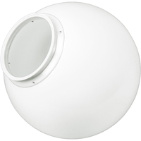 18 in. White Acrylic Globe - with 7.9 in. Extruded Neck Opening - American PLAS-18NW8