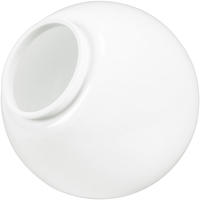 8 in. White Acrylic Globe - with 3.94 in. Neck Exterior - American PLAS-199400