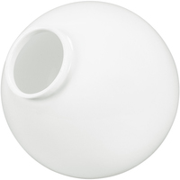 12 in. White Acrylic Globe -with 3.9 in. Extruded Neck Opening - American PLAS-12NW4