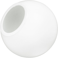 6 in. White Acrylic Globe - with 3 in. Neckless Cut Opening - American 3201-50630-083