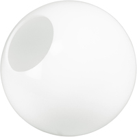 10 in. White Acrylic Globe - with 4 in. Neckless Cut Opening - American PLAS-10PW4