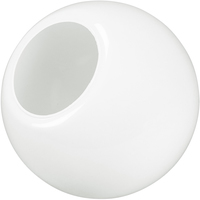 12 in. White Acrylic Globe - with 5.25 in. Neckless Cut Opening -  American PLAS-12PW