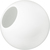 20 in. White Acrylic Globe Thumbnail
