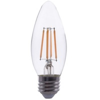 LED Chandelier Bulb - 4 Watt - 40 Watt Equal - 300 Lumens - 2700 Kelvin - Incandescent Match - Clear - 120 Volt - PLT-11833