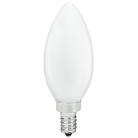 LED Chandelier Bulb - 3.5 Watt - 40 Watt Equal - 300 Lumens - 3000 Kelvin - Halogen Match - Frosted - 120 Volt - PLT-11836