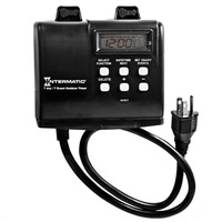 Mechanical Astronomic Heavy Duty Outdoor Timer - Outdoor Plastic Case - Black Finish - 120 VAC - Intermatic HB880R