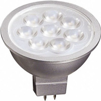 500 Lumens - LED MR16 - 6.5 Watt - 50W Equal - 4000 Kelvin - 40 Deg. Flood - Dimmable - 12 Volt - Satco S9498