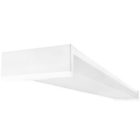 LED Ready - Wraparound Fixture - Length 48 in. x Width 8 in. - Operates (2) 4' Direct Wire LED T8 Lamps (Sold Separately) - 120-277V