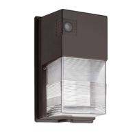 2120 Lumens - LED Wall Pack - 18 Watt - 5000 Kelvin - 100 Watt Metal Halide Equal - Integrated Photocell - 120-277 Volt - Lithonia TWS LED