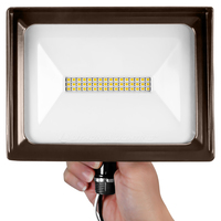 2500 Lumens - LED Flood Light Fixture - 5000 Kelvin - 24 Watt - Replaces a 70 Watt Metal Halide - 120 Volt - Knuckle Mount - Lithonia QTE