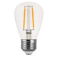 LED S14 Bulb - 2 Watt - 25 Watt Equal - 180 Lumens - 2700 Kelvin - Incandescent Match - 120 Volt - Euri Lighting ES14-2W1120