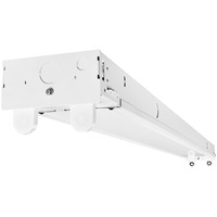 4 ft. LED Ready Strip Fixture - Double Lamp - Operates (2) 4 ft. T8 Single or Double-Ended Power Direct Wire LED Lamps (Sold Separately) - 120-277 Volt - PLT-20257
