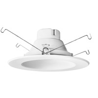 5-6 in. LED Downlight - 14 Watt - 85 Watt Equal - Daylight White - 1260 Lumens - 5000 Kelvin - 90 CRI - Stepped Baffle Trim - 120V - PLT-11663