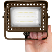 1650 Lumens - LED Flood Light Fixture - 4000 Kelvin - 15 Watt - Replaces a 50 Watt Metal Halide - 120-277 Volt - Yoke Mount - TCP FLYUA1W40KBR