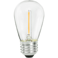 LED S14 Bulb - 0.7 Watt - 11 Watt Equal - 75 Lumens - 2700 Kelvin - Incandescent Match - 120 Volt - Bulbrite 776685