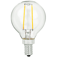 2.05 in. Dia. - LED G16.5 Globe - 2 Watt - 25 Watt Equal - Incandescent Match - 200 Lumens - 2700 Kelvin - Candelabra Base - 120 Volt - PLT-11157