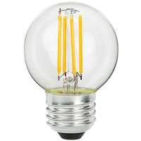 2.05 in. Dia. - LED G16.5 Globe - 2 Watt - 25 Watt Equal - Incandescent Match - 200 Lumens - 2700 Kelvin - Medium Base - 120 Volt - PLT-11159
