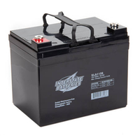12 Volt - 35 Ah - AGM Battery - Insert Terminal - Sealed AGM - Interstate Batteries SLA1156
