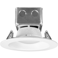 1000 Lumens - 6 in. Retrofit LED Downlight - 15W - 75W Equal - 3000 Kelvin - Stepped Baffle Trim - Dimmable - 120-277V