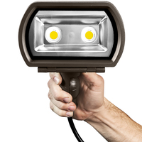 3900 Lumens - LED Flood Light - 5000 Kelvin - 34 Watt - Replaces 150 Watt Metal Halide - 120-277 Volt - Knuckle Mount - ILP CFS-36W-U-50-N76/S-BRZ