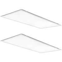 Watt and Color Selectable - 2 x 4  LED Panel - Watts 30-40-50 - Kelvin 3500-4000-5000 - Lumens 3630-4680-5500 - 120-277 Volt - 2 Pack - PLT-90147 - 120-277 Volt - 2 Pack - PLT-90147
