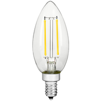 LED Chandelier Bulb - 3.5 Watt - 40 Watt Equal - 300 Lumens - 2700 Kelvin - Incandescent Match - Clear - 120 Volt - PLT-11828