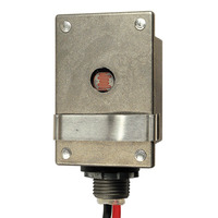 SPST Photocell - Stem Mounting - Heavy Duty Enclosure - LED Compatible - Multi-Volt 105-285 - Precision Multiple T-30AL