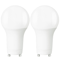 800 Lumens - LED A19 - GU24 Base - 8 Watt - 60W Equal - 3000 Kelvin - Halogen Match - 120 Volt - 2 Pack - Euri Lighting EA19-8W2000eG-2