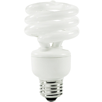 Spiral CFL - 14 Watt - 60 Watt Equal - Daylight White - 850 Lumens - 5000 Kelvin - Medium Base - 120 Volt - TCP 801014-50