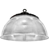 19,500 Lumens - LED Round High Bay - 150 Watt - 400W MH Equal - 3500 Kelvin - 120-277 Volt - 5 Year Warranty - PLT-11497
