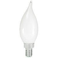 LED Chandelier Bulb - 3.5 Watt - 40 Watt Equal - 300 Lumens - 2700 Kelvin - Incandescent Replica - Frosted - Candelabra Base - 120 Volt - PLT-11891
