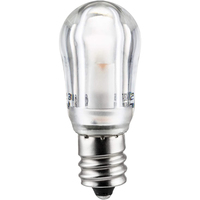 1 Watt - S6 Indicator LED Light Bulb - Clear - Candelabra Base - 120 Volt - Sunlite 41069-SU