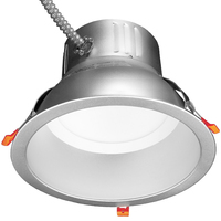 Wattage and Color Selectable - 10 in. LED Downlight - Watts 18-23-30 - Kelvin 2700 or 5000 - Lumens 1800-2950 - 120-277 Volt - TCP DLC10SWUZDCCT2